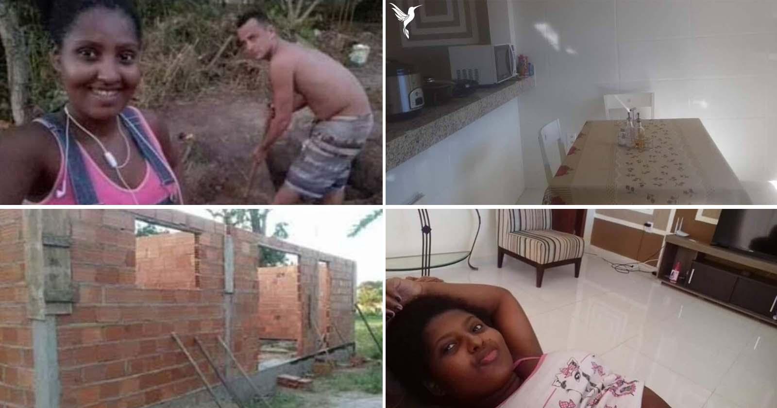 antes e depois casa construída casal