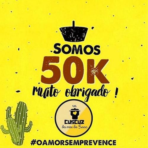 comemoração 50 mil seguidores
