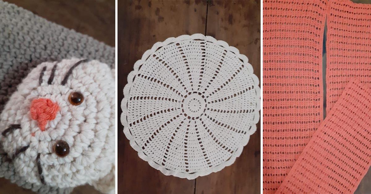 peças crochê