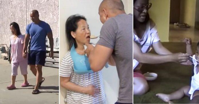 Filho dá comida na boca da mãe com demência, como ela fazia quando ele era bebê 2