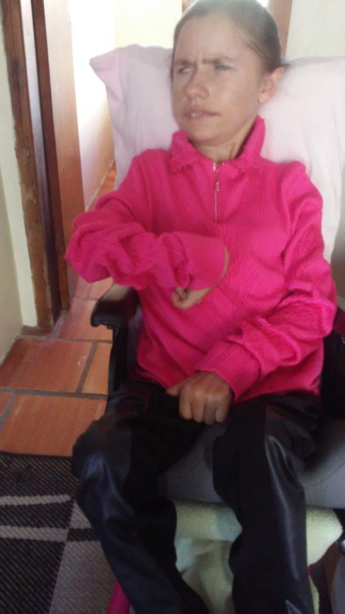 mulher paralisia sentada cadeira