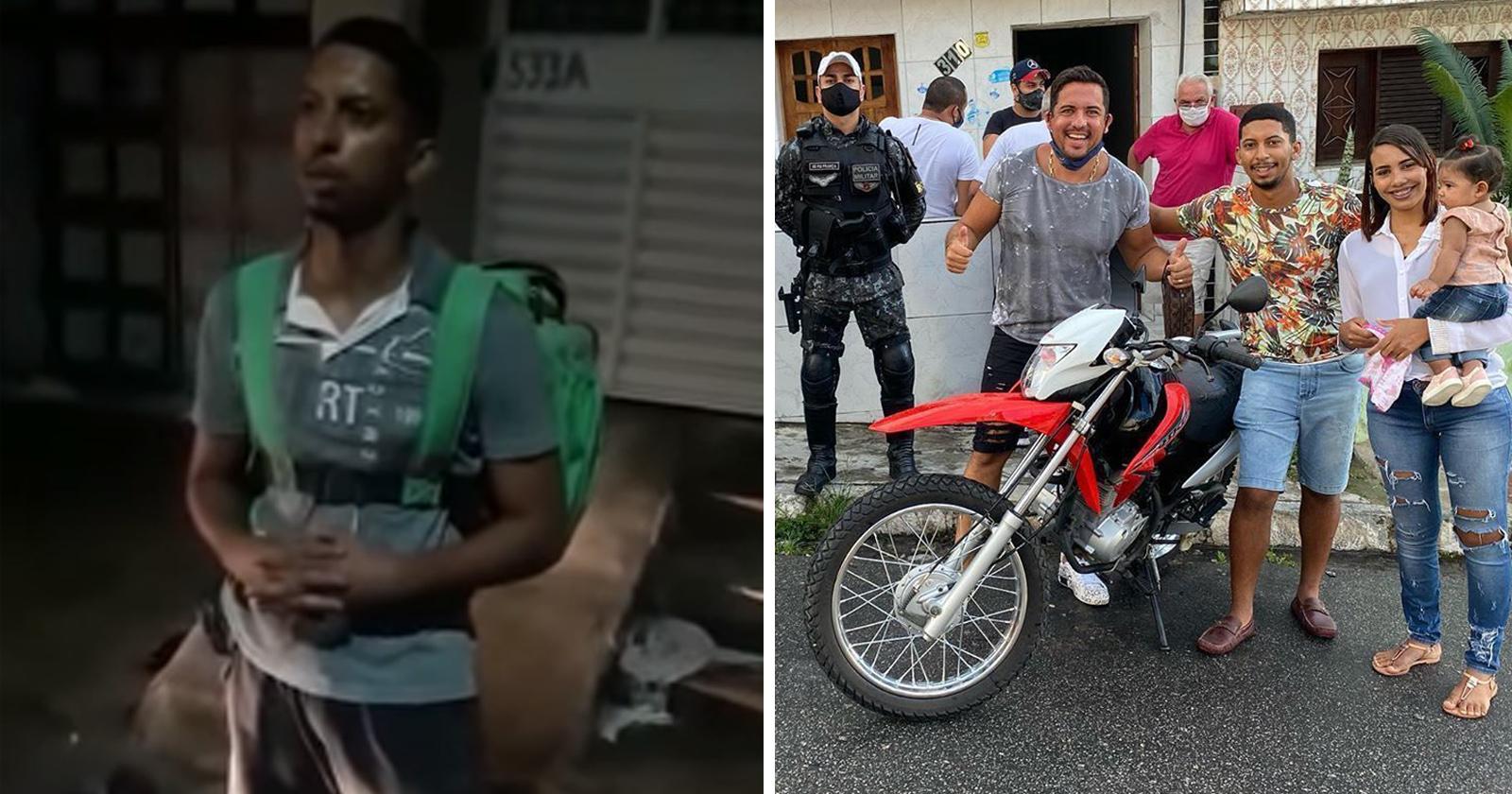 motoboy cercado policiais