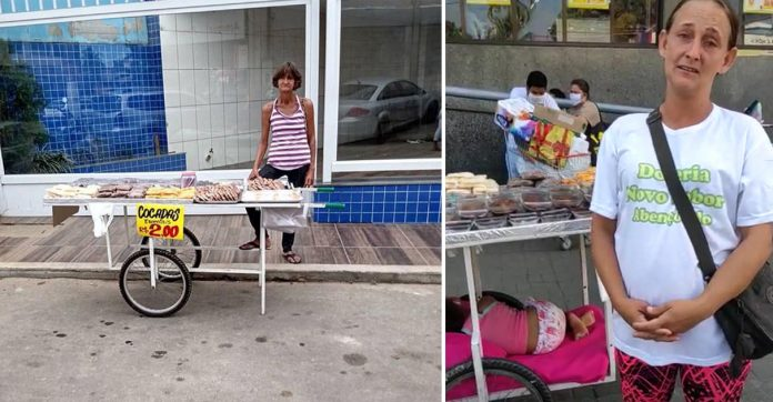 mulheres vendendo cocada rua