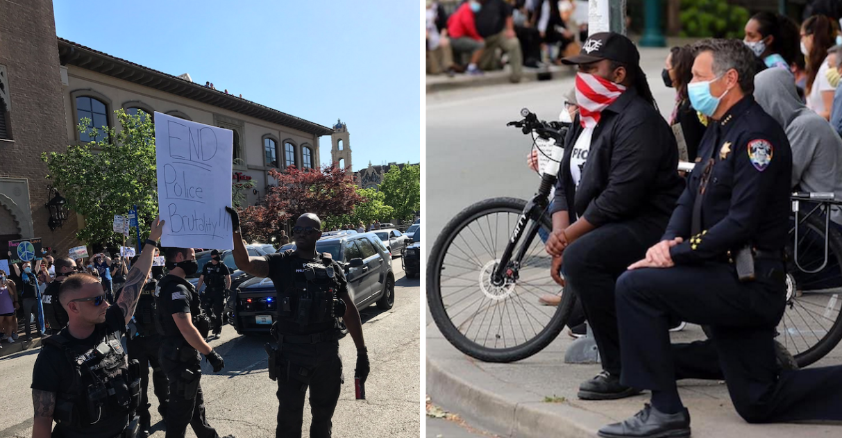 policiais protestos capa