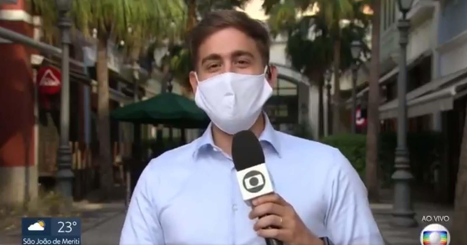 Repórter da Globo se declara ao vivo para marido e vídeo viraliza 1