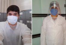enfermeiro usando equipamentos proteção coronavírus