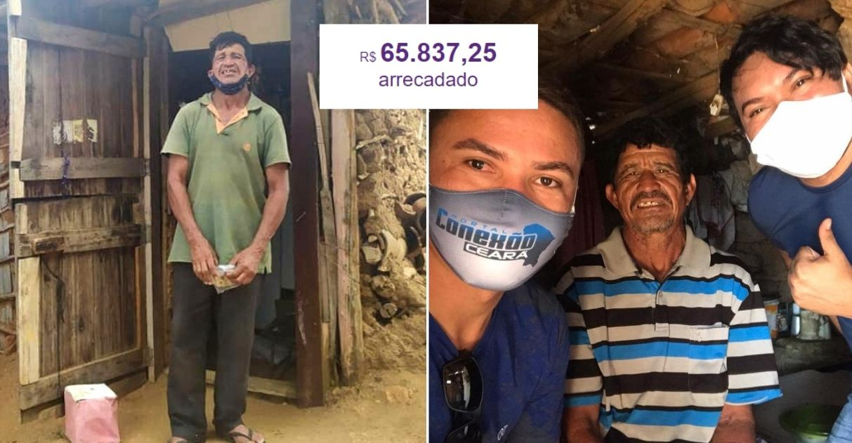 Ex-gari, que vive em condições desumanas, ganha mais de R$65 mil em doações para construir casa 1