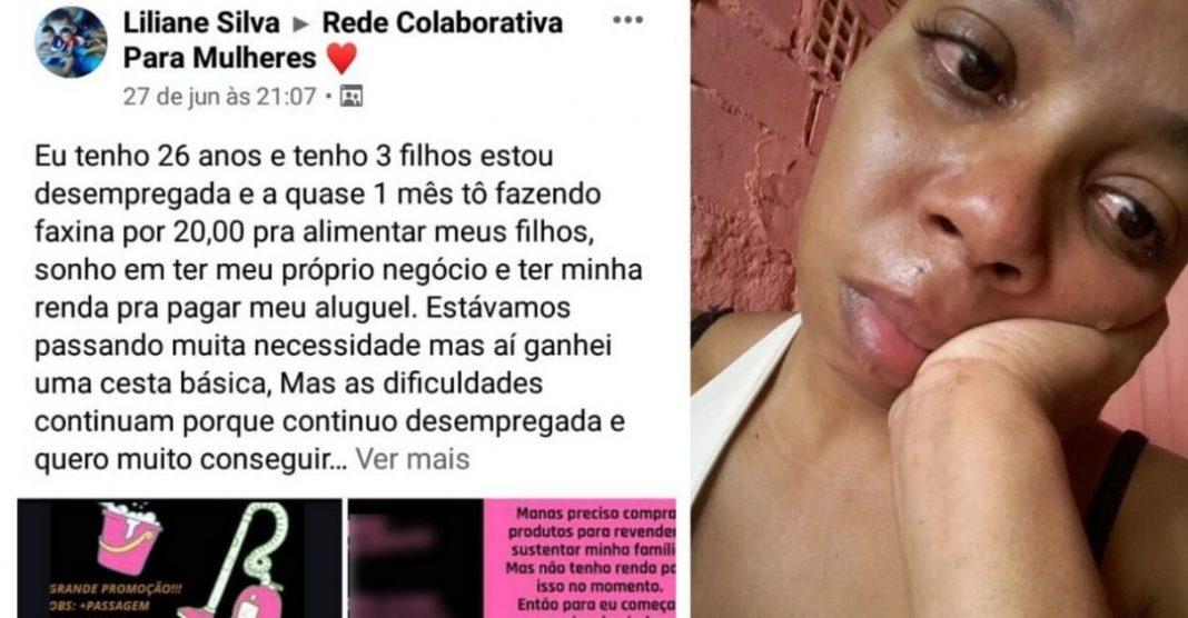 Mãe que anunciou faxina por R$ 20 para alimentar filhos comove internautas e recebe R$ 53 mil em doações 2