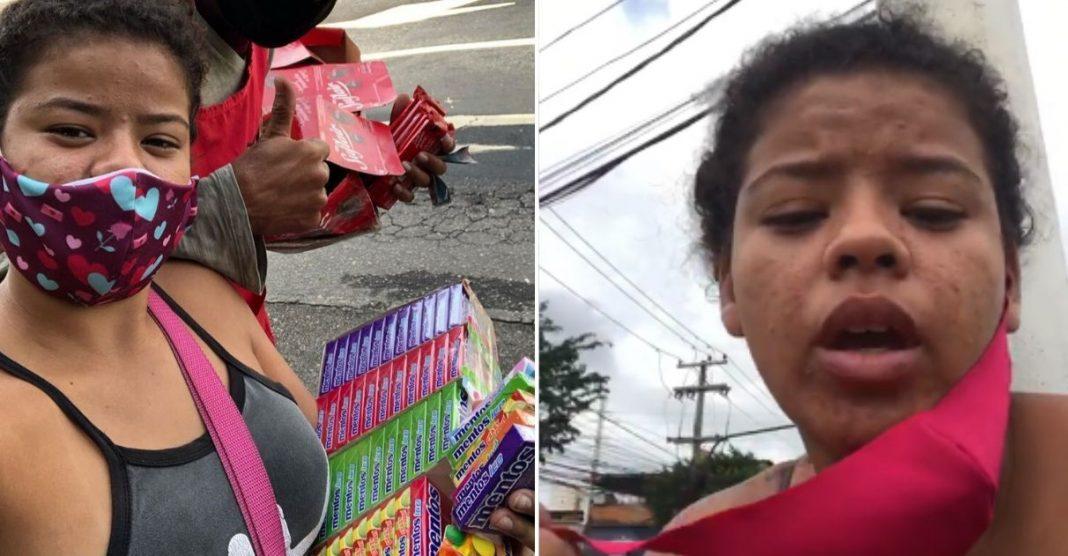 Jovem que vive com venda de balas tem mercadoria apreendida pela prefeitura e internautas ajudam com vaquinha 3