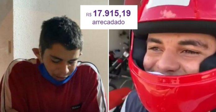 Motoboy flagrado chorando pela moto quebrada compra moto nova graças à vaquinha 1