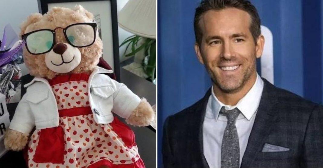 Ryan Reynolds oferece recompensa de US$ 5 mil para ajudar mulher a encontrar urso de pelúcia com a voz da mãe falecida 1