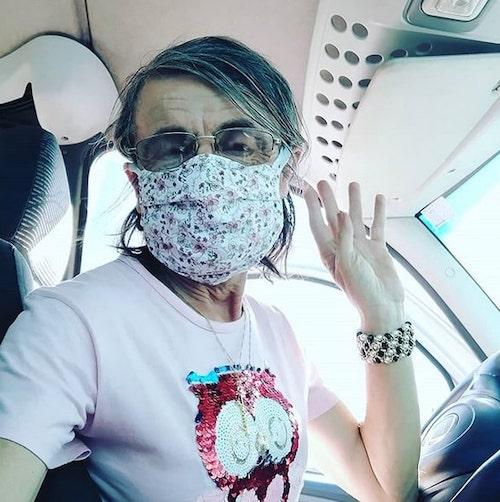 ana carolina de máscara