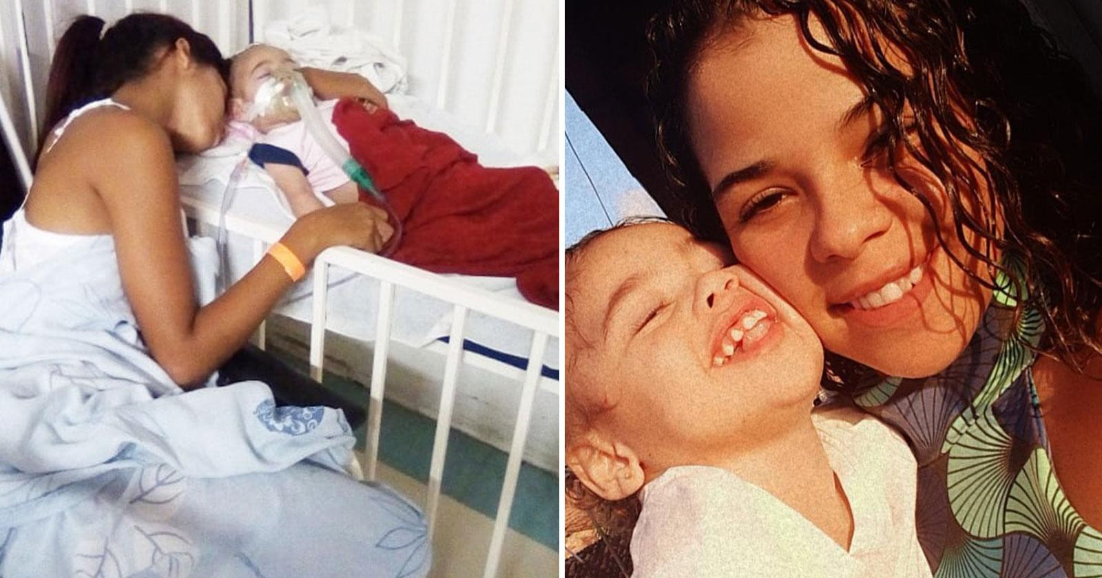 Morre bebê adotada por jovem de 18 anos e mãe promete continuar ajudando crianças especiais 1