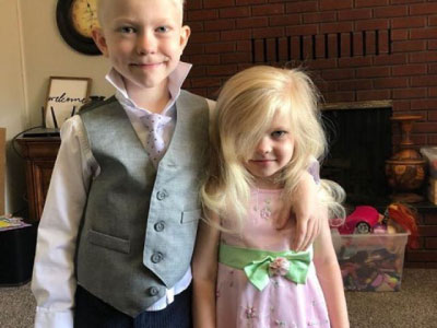 irmãos Bridger e Nicole