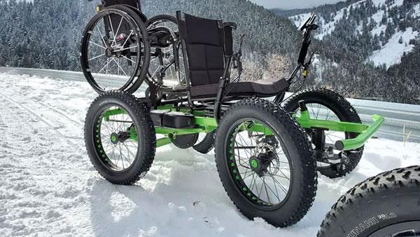 Marido cria cadeira de rodas off-road para a esposa ir a lugares que nunca imaginou 7