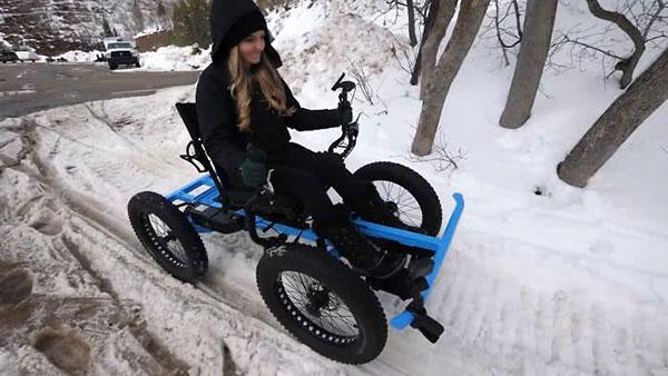 Marido cria cadeira de rodas off-road para a esposa ir a lugares que nunca imaginou 9