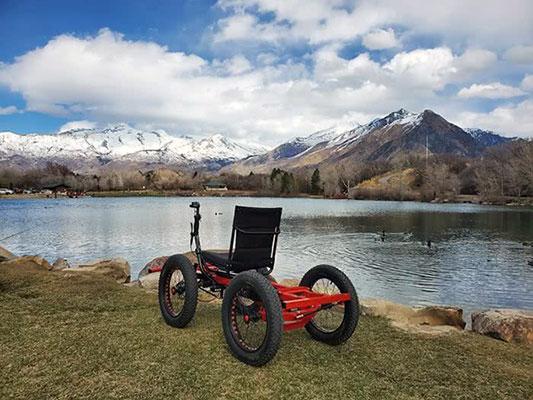cadeira de horas no lago