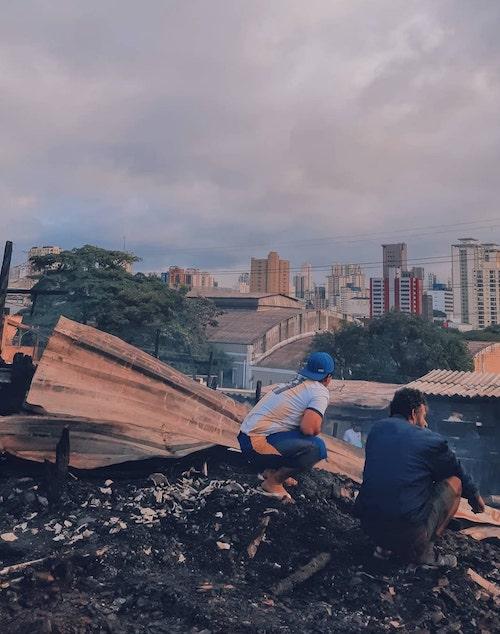 catadores de lixo na cidade