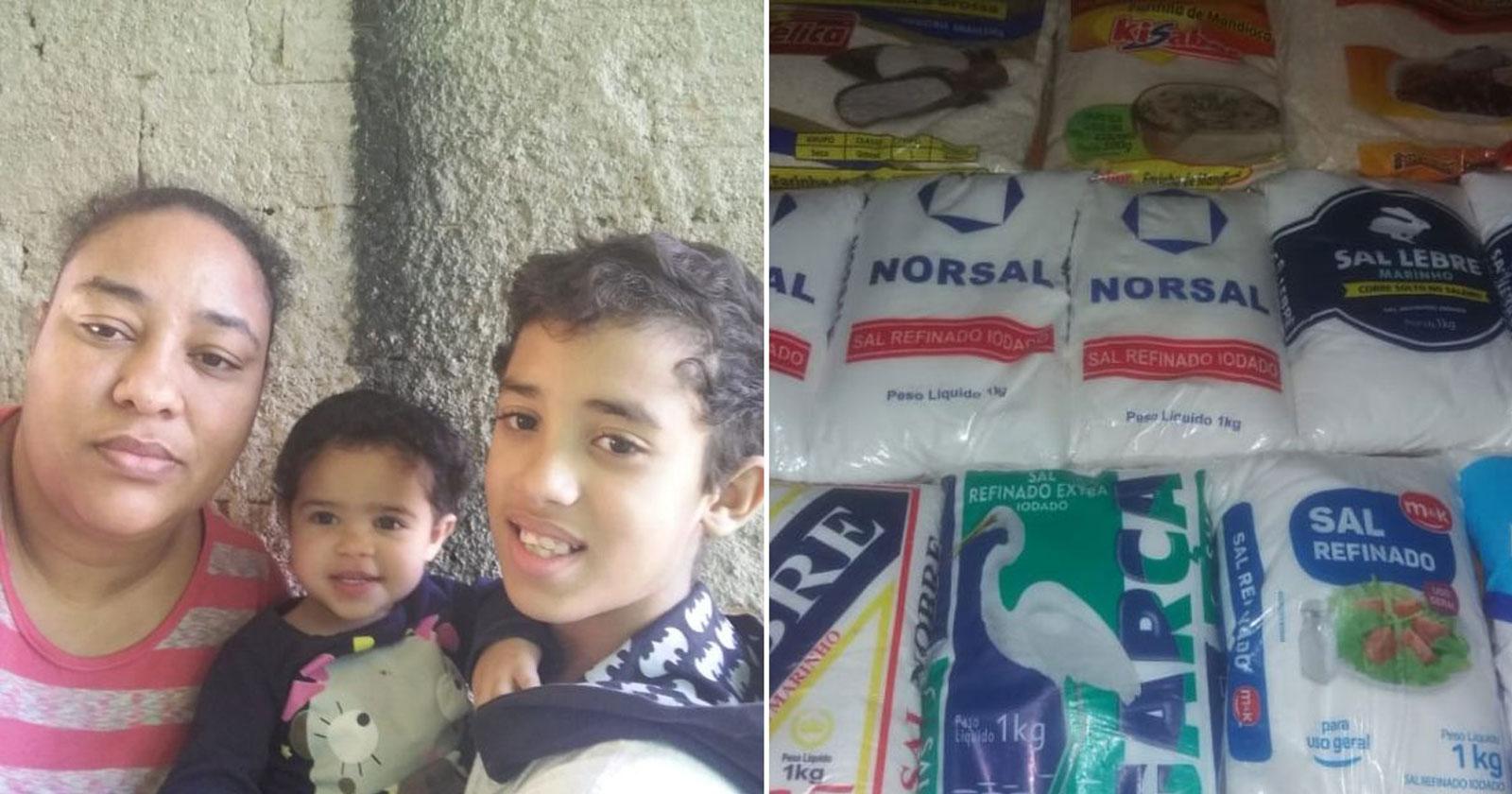 No lugar de cesta básica, família ganha 'vários pacotes de sal', comove internautas e recebe R$ 46 mil em doações 1