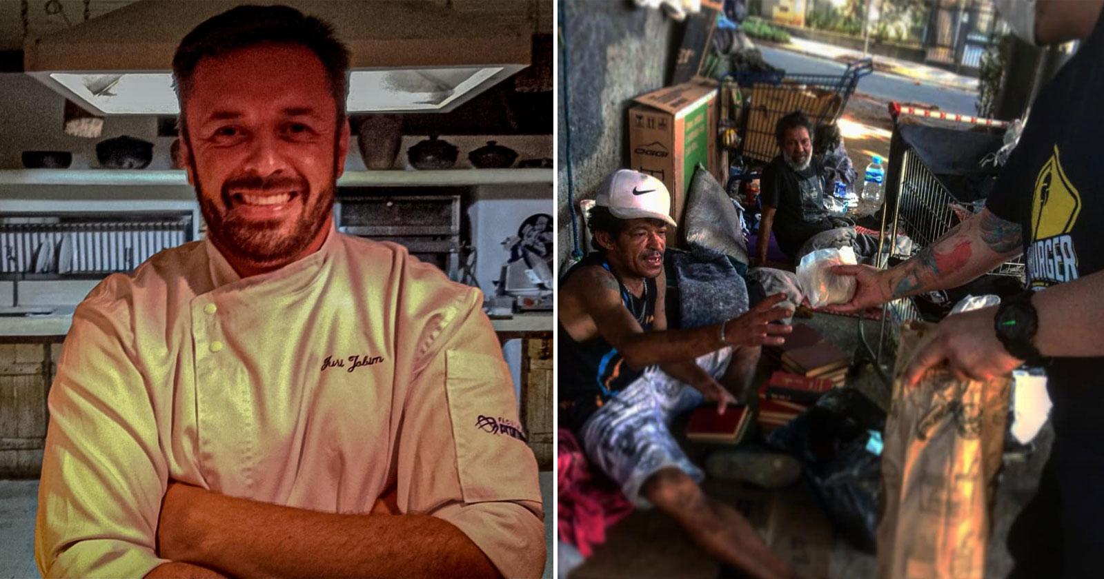 Após vencer as drogas, chef de cozinha leva hambúrguer e amor a desabrigados em BH 1