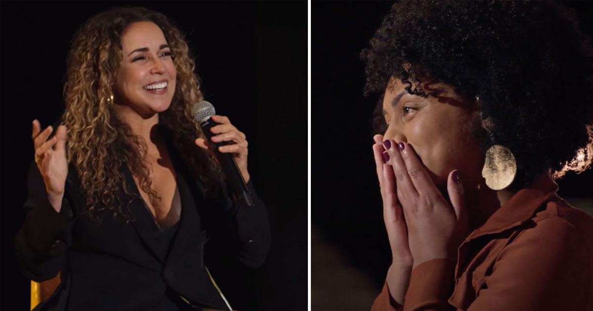 Enfermeira que decidiu retribuir cuidados na infância é homenageada por Daniela Mercury, em show surpresa feito pelo Mercado Livre 2