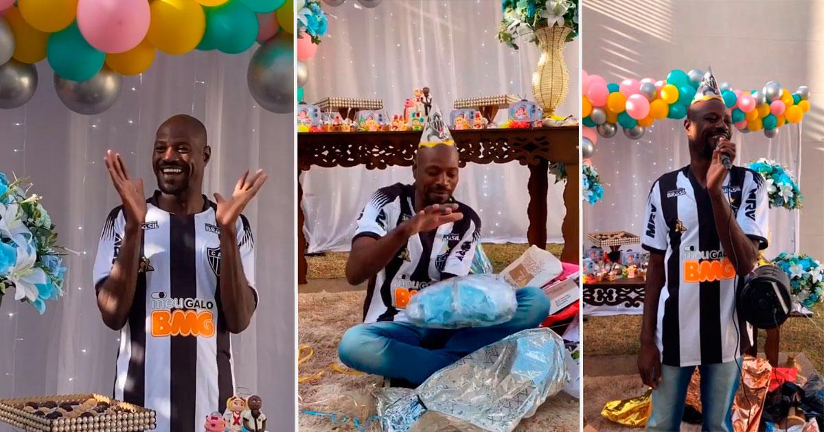 Cabeleireira mobiliza internet e empresas doam presentes para festa surpresa de funcionário da Apae (MG) 1