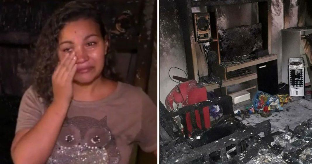 Após ter a casa incendida pelo ex-marido, internautas criam vaquinha para ajudar vendedora 3