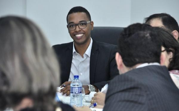 Guilherme em reunião