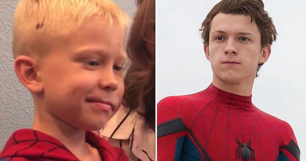 Tom Holland convida menino que salvou irmã de ataque de cachorro para o set de 'Homem-Aranha 3' 3