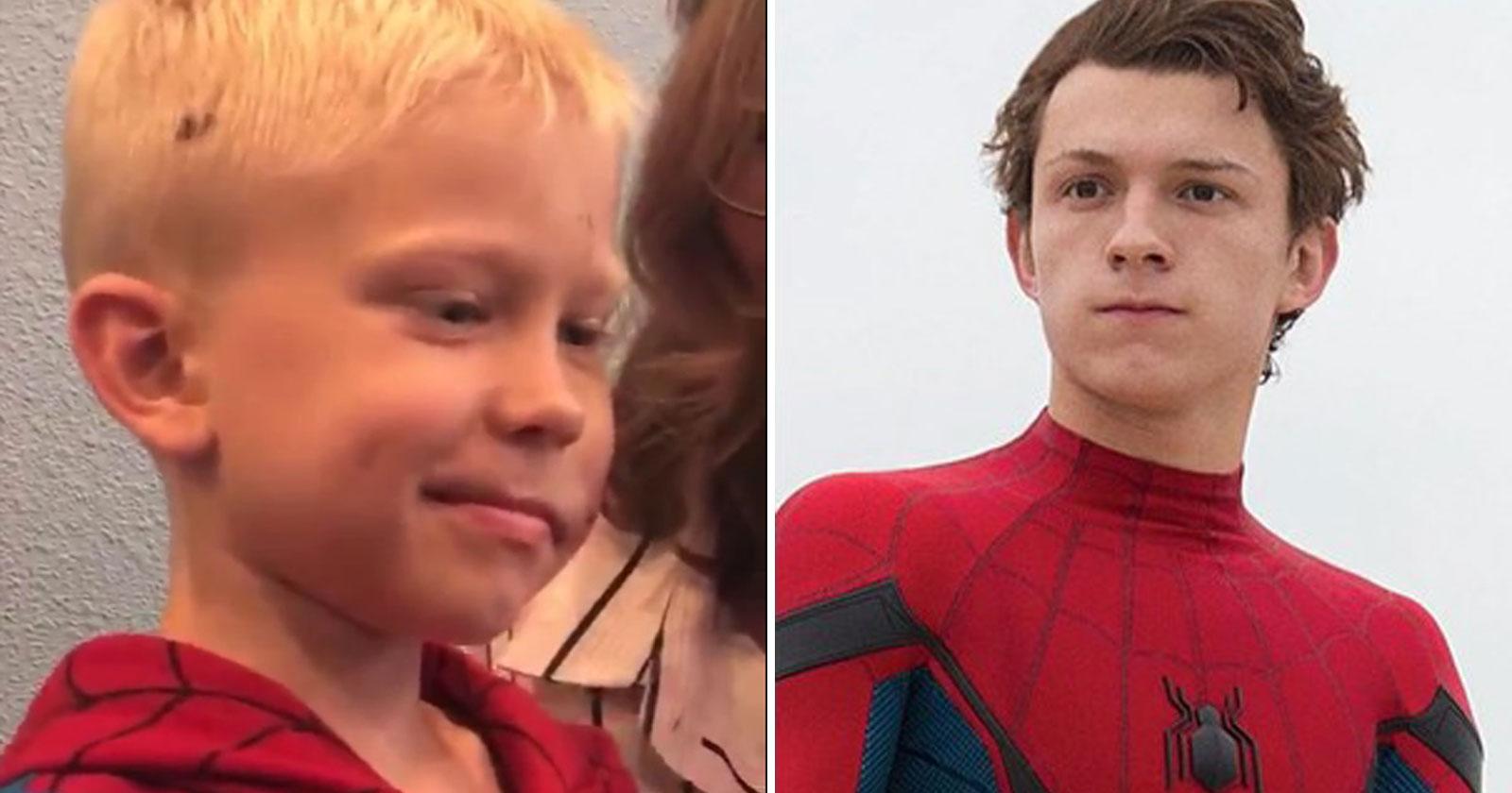 Tom Holland convida menino que salvou irmã de ataque de cachorro para o set de 'Homem-Aranha 3' 1