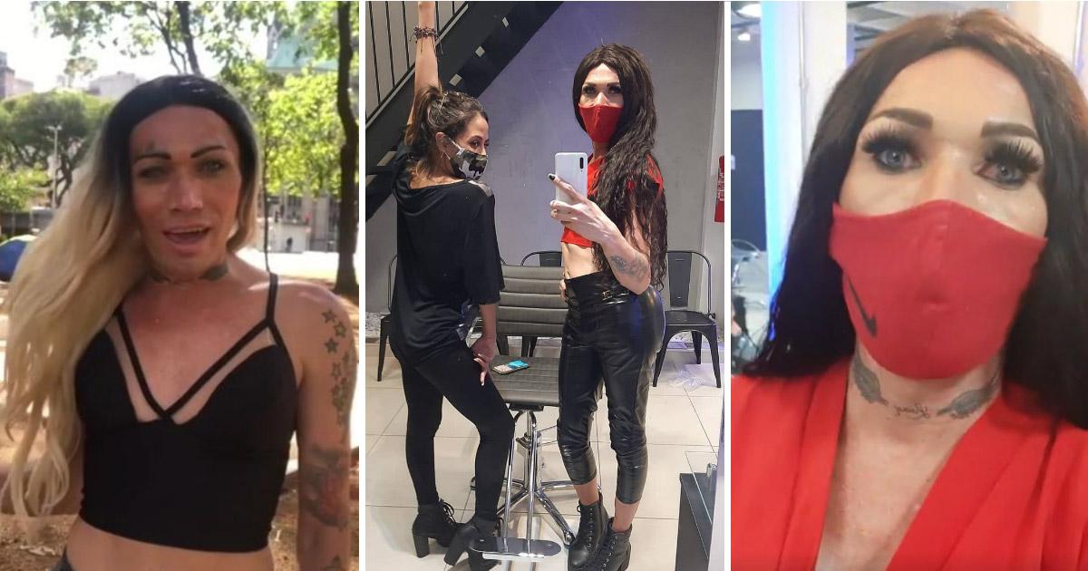Uma nova chance! Trans que vivia nas ruas de SP é contratada por salão de beleza 1