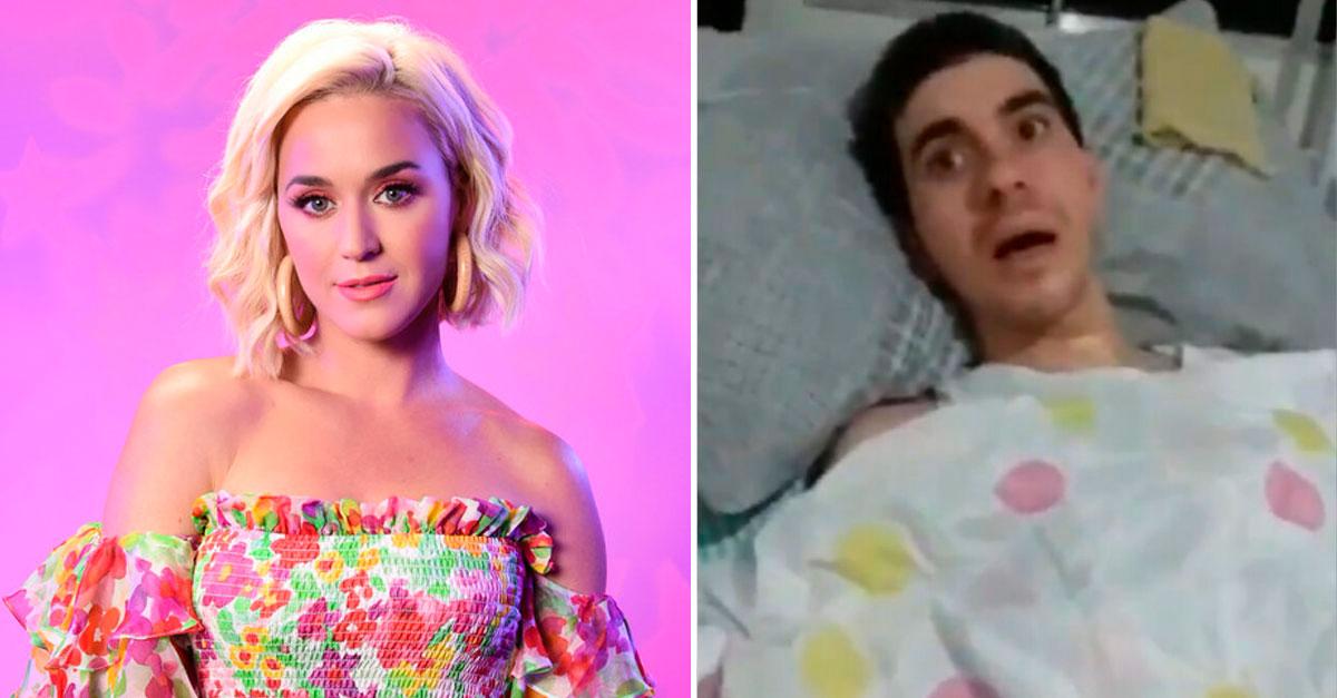 Katy Perry e rapaz qye sofreu ataque homofóbico