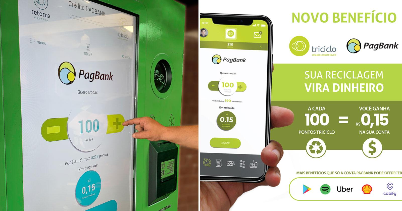 cartaz iniciativa troca material reciclável por dinheiro