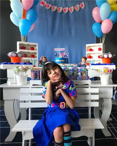 menina em festa de aniversário