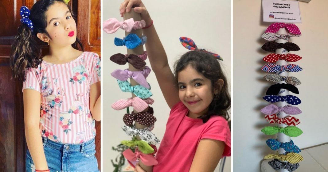 Menina de 9 anos doa R$ 2 mil para Santa Casa em MG com venda de laço para cabelo 2
