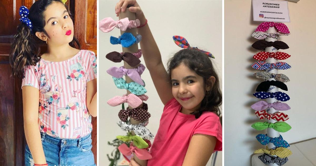 Menina de 9 anos doa R$ 2 mil para Santa Casa em MG com venda de laço para cabelo 1