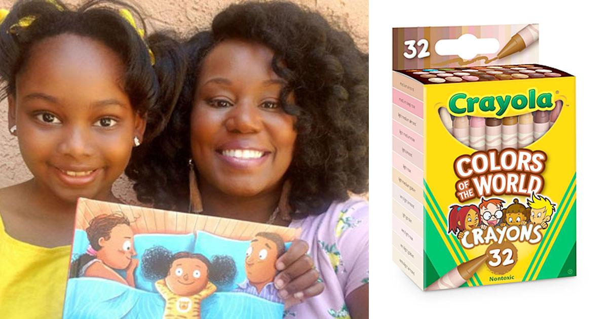 Menina faz campanha para doar lápis em diferentes tons para as crianças sentirem-se representadas em seus desenhos 1