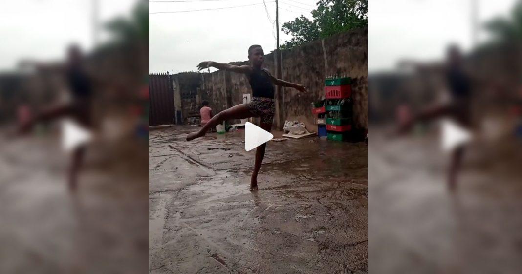 Descalço e na chuva, bailarino nigeriano de 10 anos encanta o mundo e vídeo viraliza 2