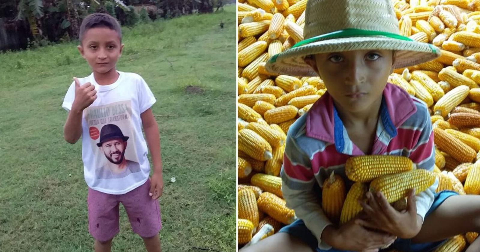 menino vestindo camiseta poeta bráulio bessa
