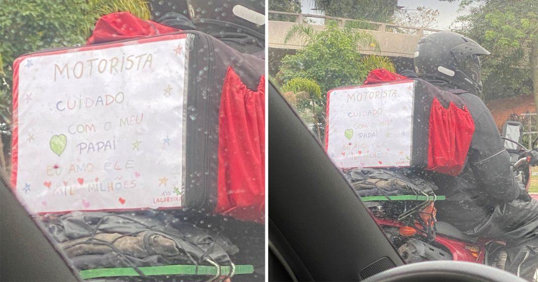 motoboy trânsito chuva