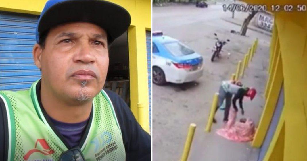 Motoqueiro 'flagrado' cuidando de moradora de rua comprará moto nova com ajuda de vaquinha 1