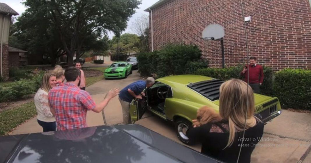 VÍDEO: Filho procura por 15 anos Mustang igual ao que seus pais tiveram o 1º encontro e surpreende 2