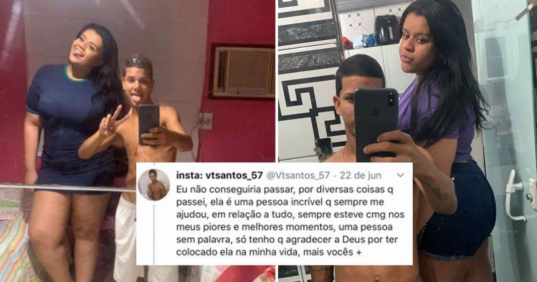 Ele defendeu a namorada de comentários sobre o corpo dela e prova de amor viralizou 2