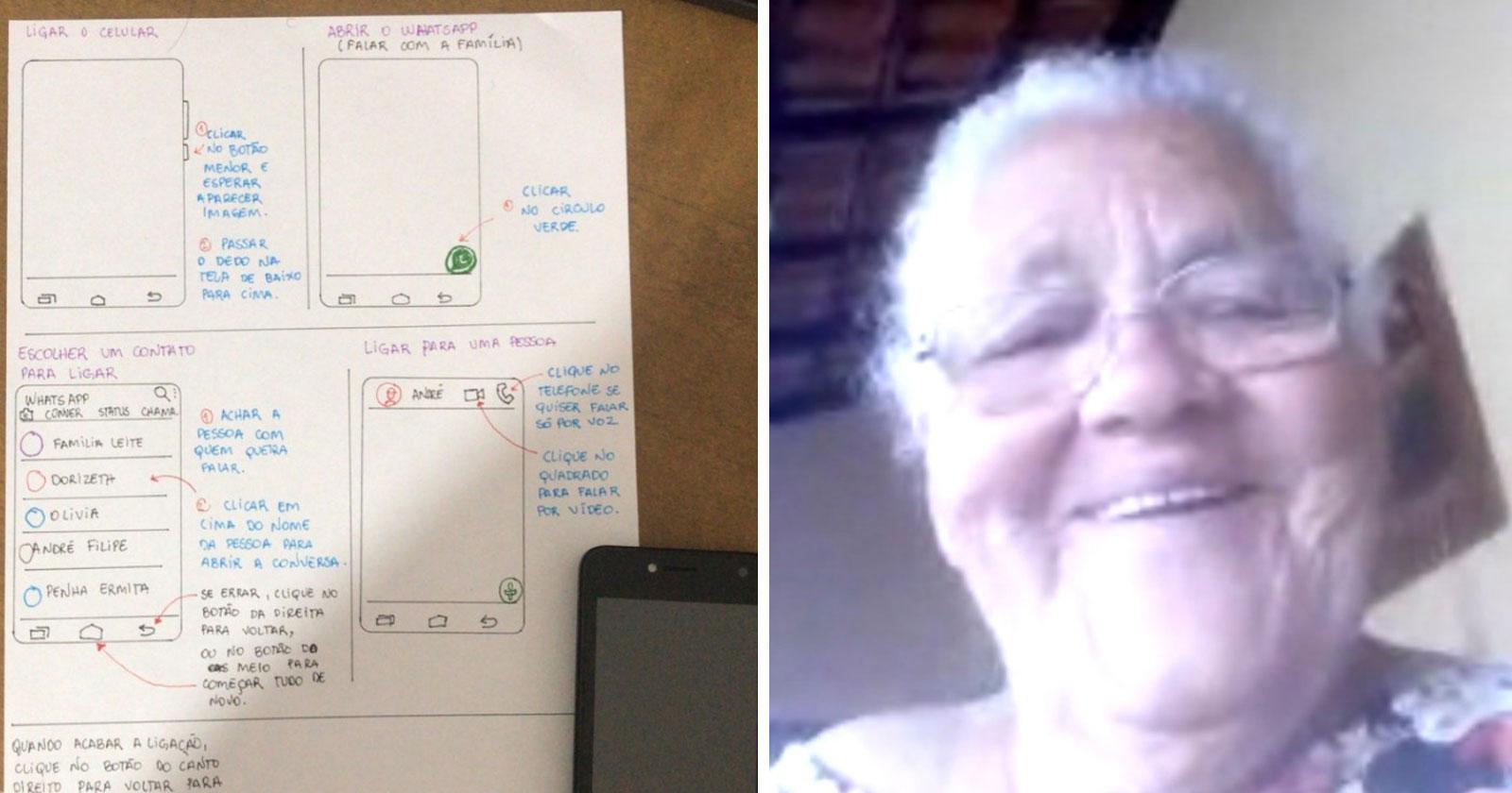 neto chamada vídeo avó whatsapp