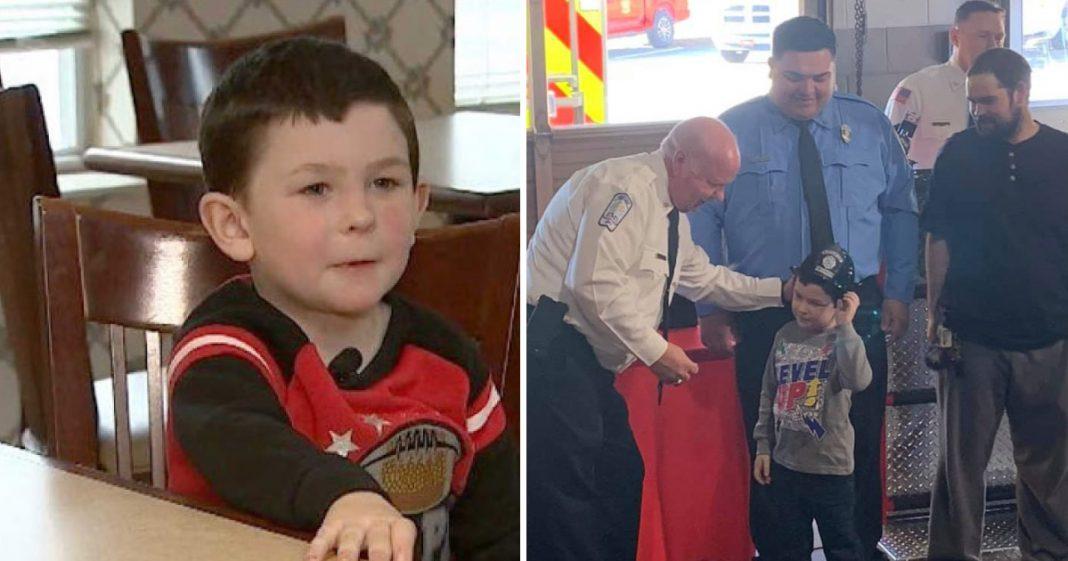 Menino de 5 anos salva irmã de incêndio e volta para resgatar cachorro e restante da família 1
