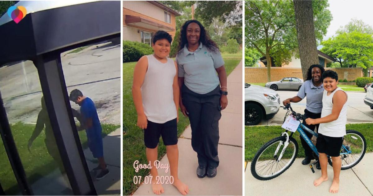 Menino de 10 anos anima motorista após ônibus quebrar. Dias depois, ela retribui com bicicleta nova 1