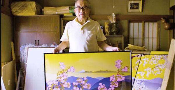 obras de Tatsuo com paisagens tipicamente japonesas