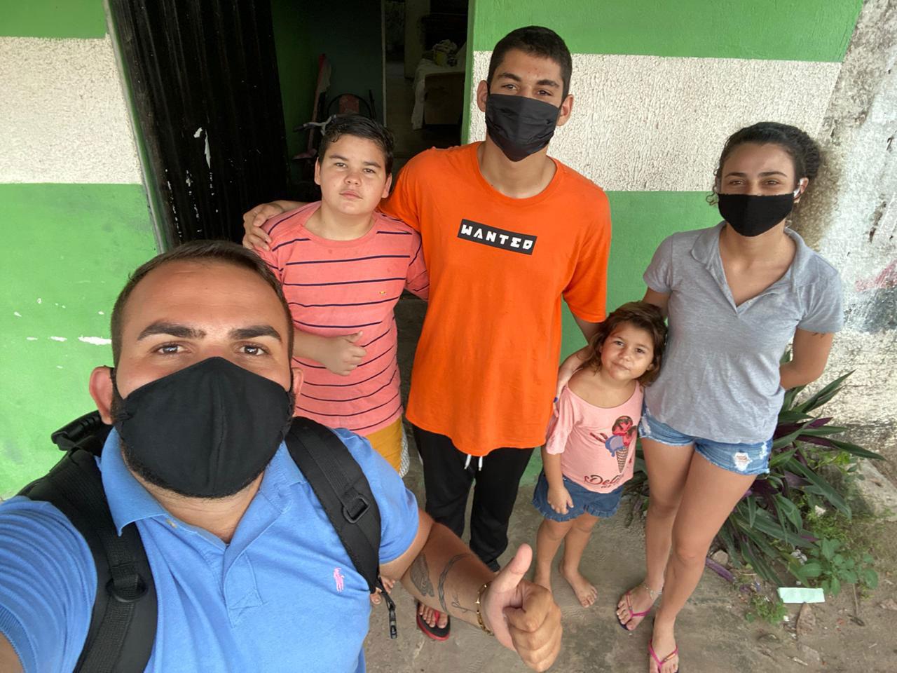 selfie radialista família motoboy bateu moto