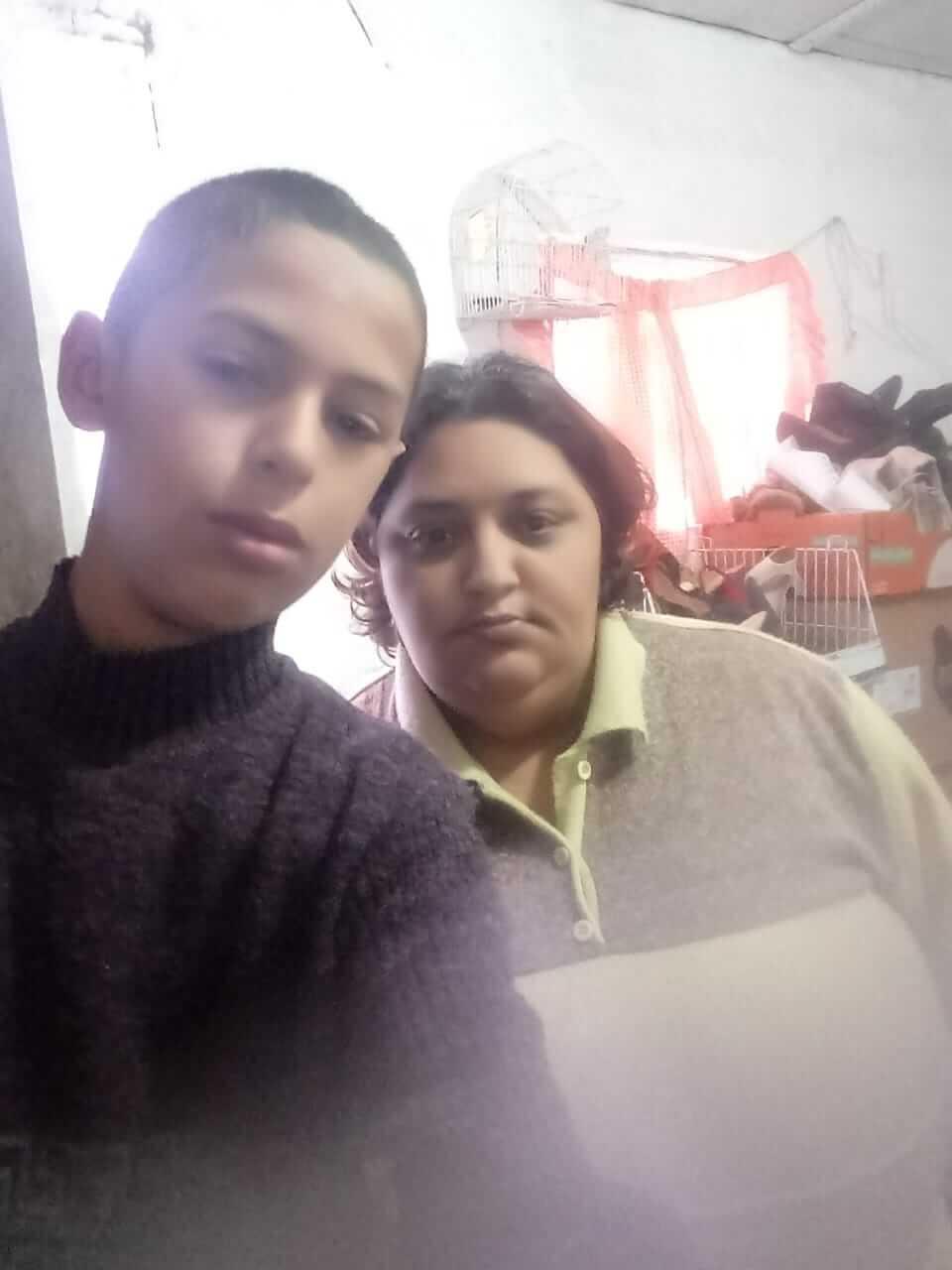 Lucas e a mãe
