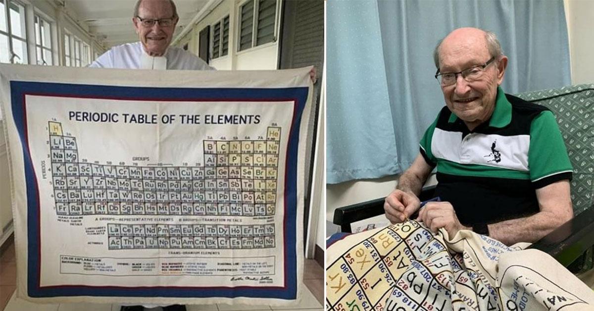 tabela periodica bordada por professor